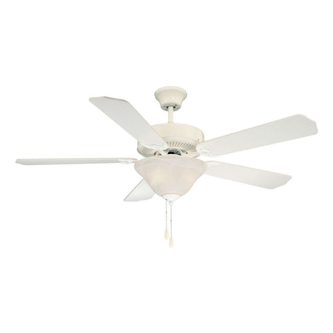 First Value White Marble Glass Ceiling Fan