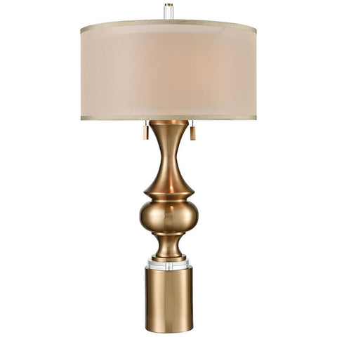 Vajra Table Lamp in Cafe Bronze