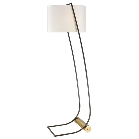 Electric Slide Floor Lamp in New Aged Brass and Oil Rubbed Bronze