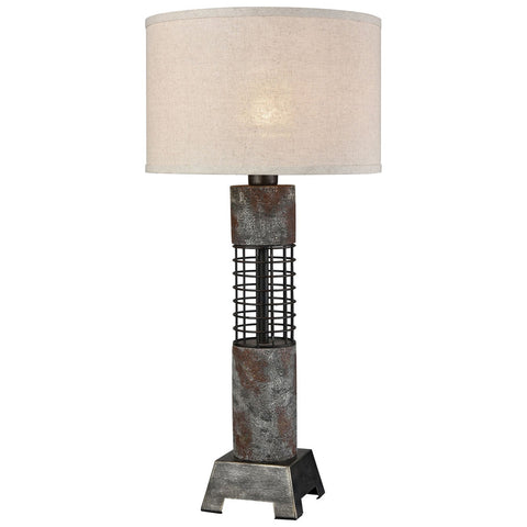 Gendarme Table Lamp in Grey Iron