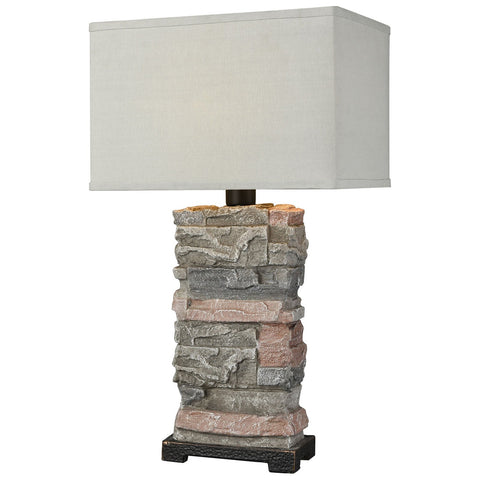 Terra Firma Table Lamp in Stone
