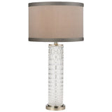Chaufer Table Lamp in Polished Nickel and Clear