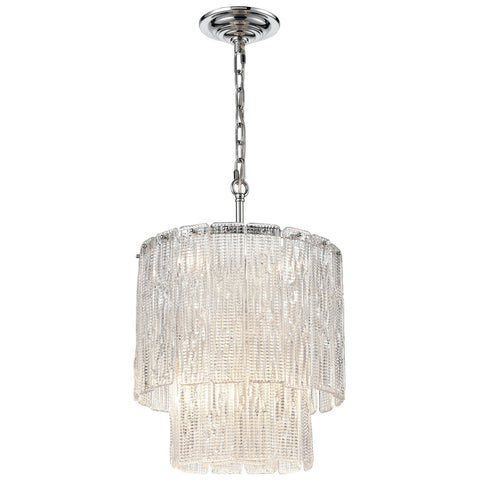 Diplomat 8-Light Chandelier in Chrome - Small