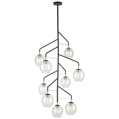 Umbra 9-Light Chandelier in Oil Rubbed Bronze and Polished Chrome