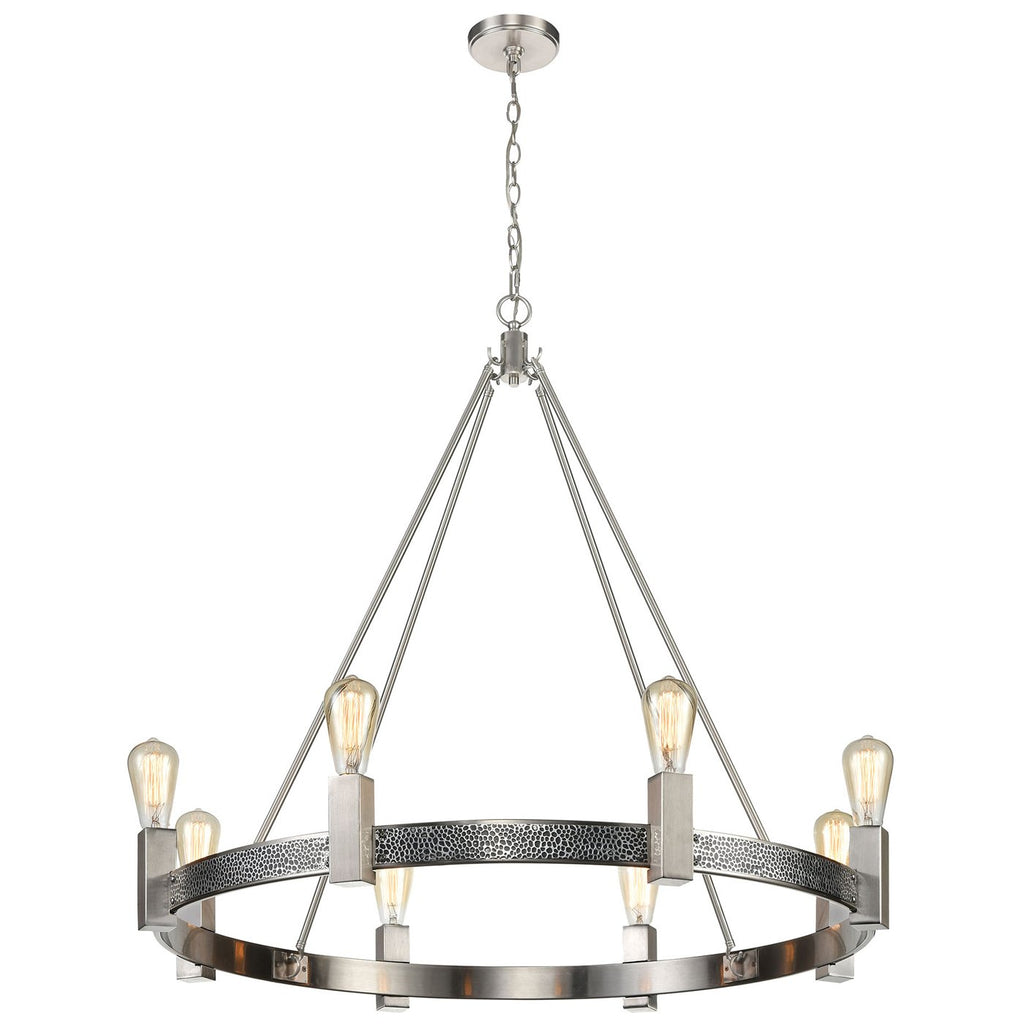 Impression 8-Light Chandelier in Silver and Satin Nickel