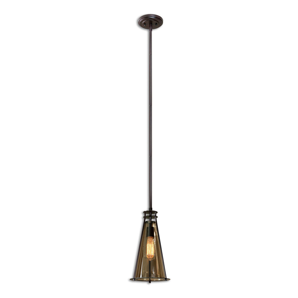 Frisco 1 Light Black Metal Mini Pendant
