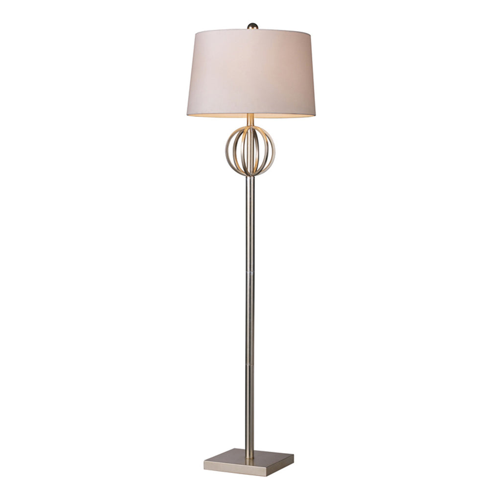 Donora 1-Light Silver Leaf Floor Lamp