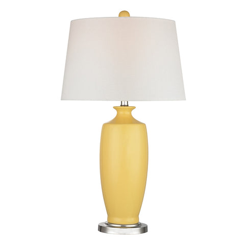 Halisham - Sunshine 1-Light Sunshine Yellow Table Lamp