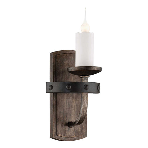 Alsace 1-Light Reclaimed Wood Sconce