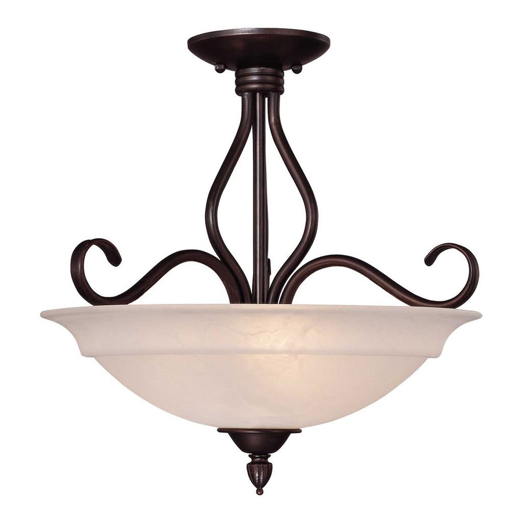 Oxford 3-Light Semi-Flush