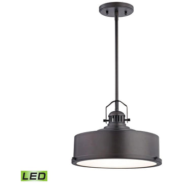 Rexford 1-Light LED Pendant in Oiled Bronze