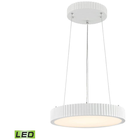 Digby 24-Watt LED Pendant in Matte White