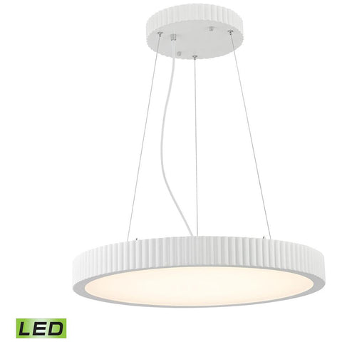 Digby 48-Watt LED Pendant in Matte White