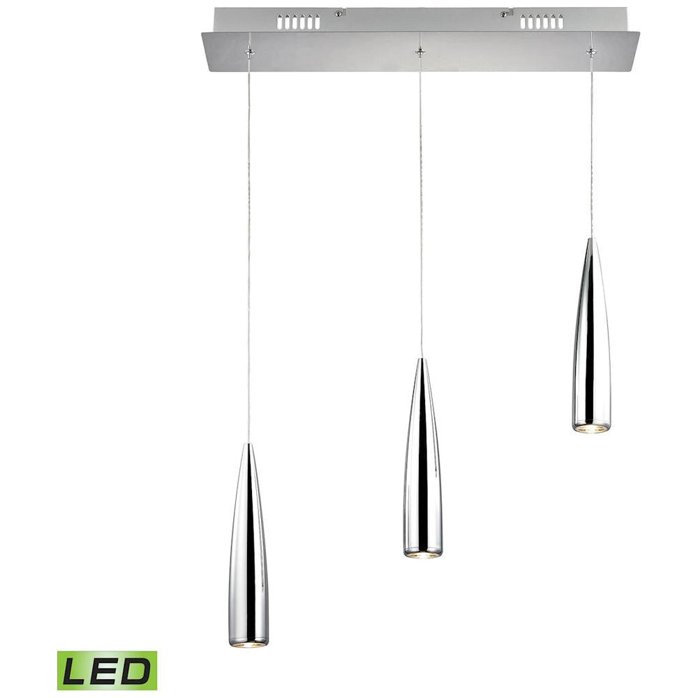 Century 3-Light LED Pendant in Chrome