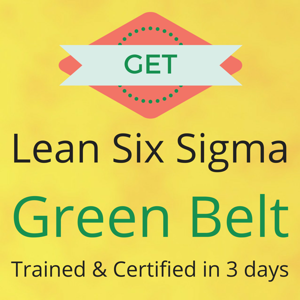 Six sigma green belt training sorry