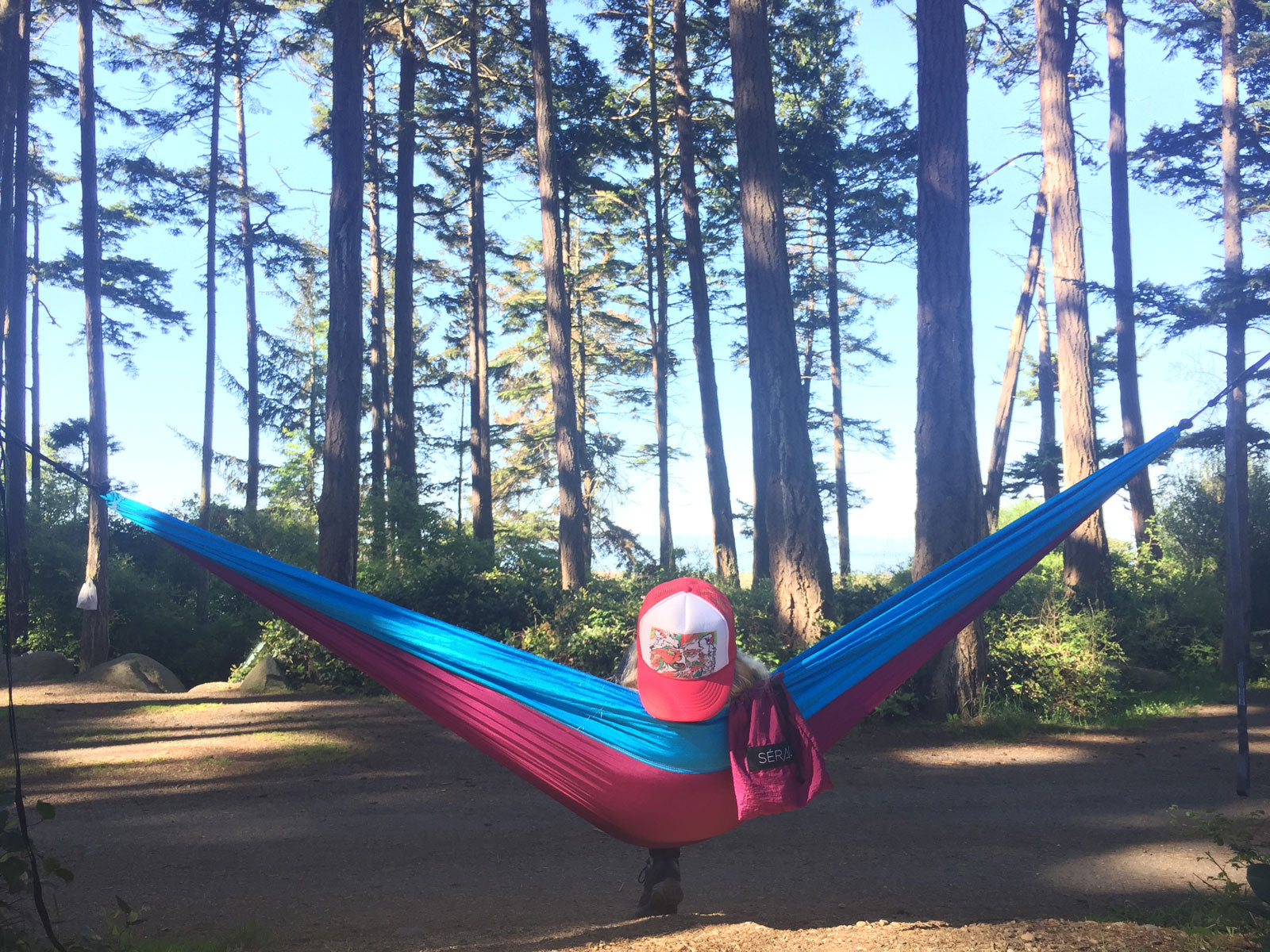 Tips for Hammock Hiking, Backpacking and Camping - Use the Stuff Sack as a Storage Pocket
