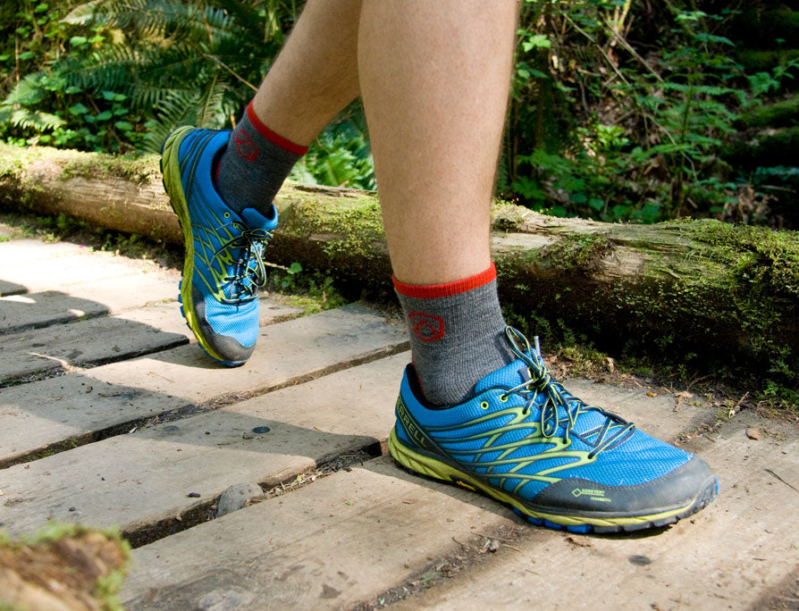 CloudLine merino wool hiking socks out trail running