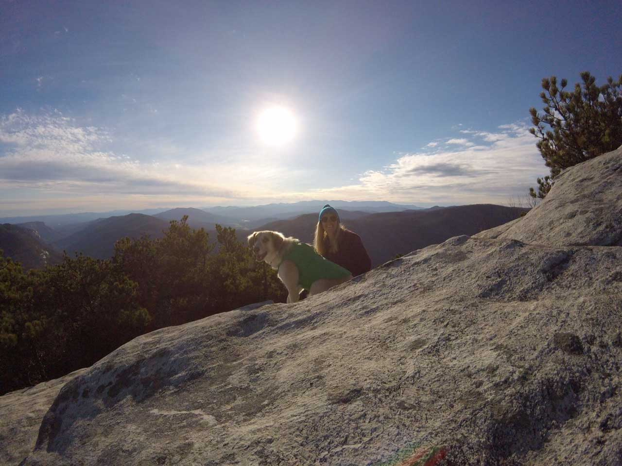 Hiking in North Carolina - Hawksbill Trail at Linville Gorge
