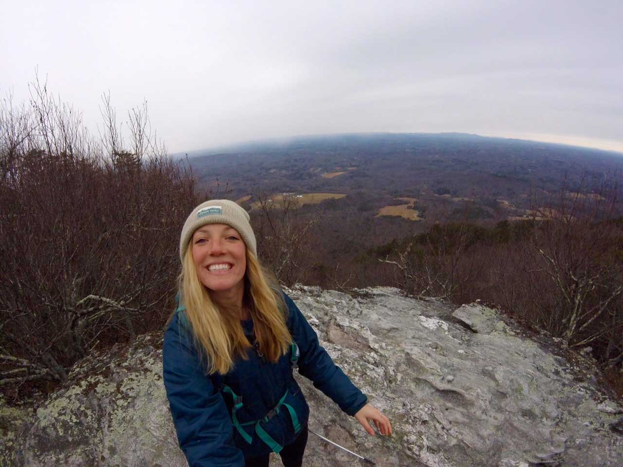 Hiking in North Carolina - Moore's Wall Knob Trail at Hanging Rock State Park
