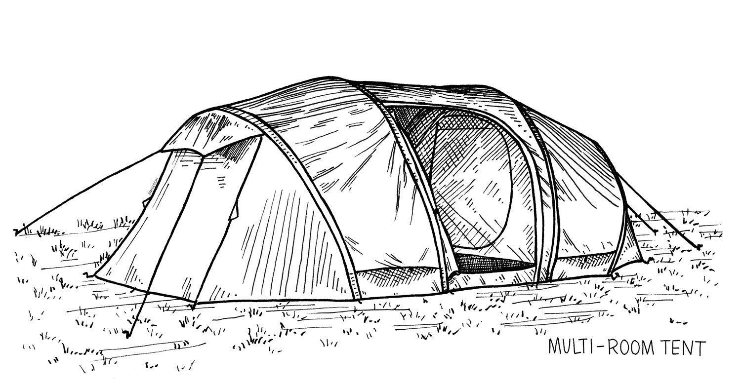 Multi-Room Tent -by Teresa Grasseschi