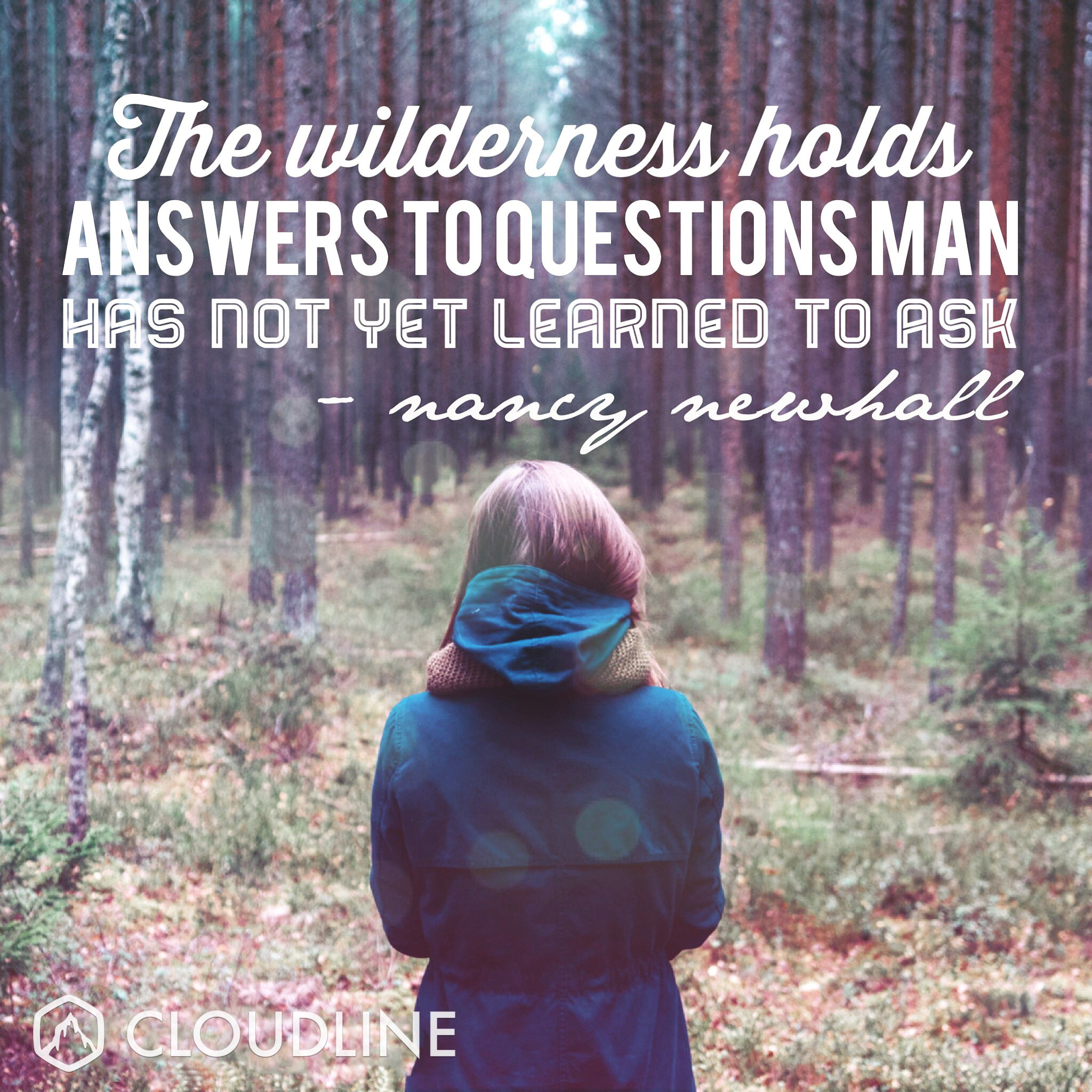 The wilderness holds answers to questions man has not yet learned to ask - Nancy Newhall
