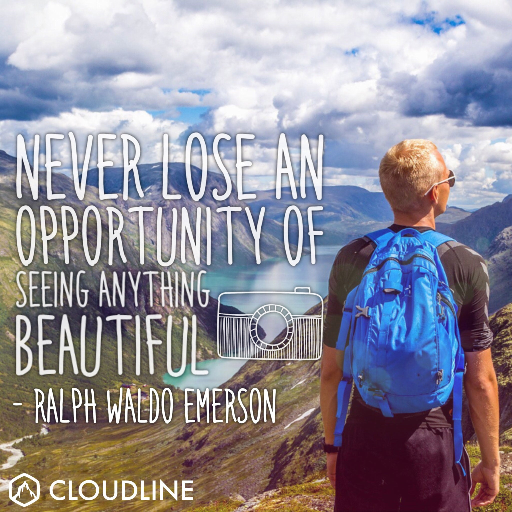 """Never lose an opportunity of seeing anything beautiful."" - Ralph Waldo Emerson"