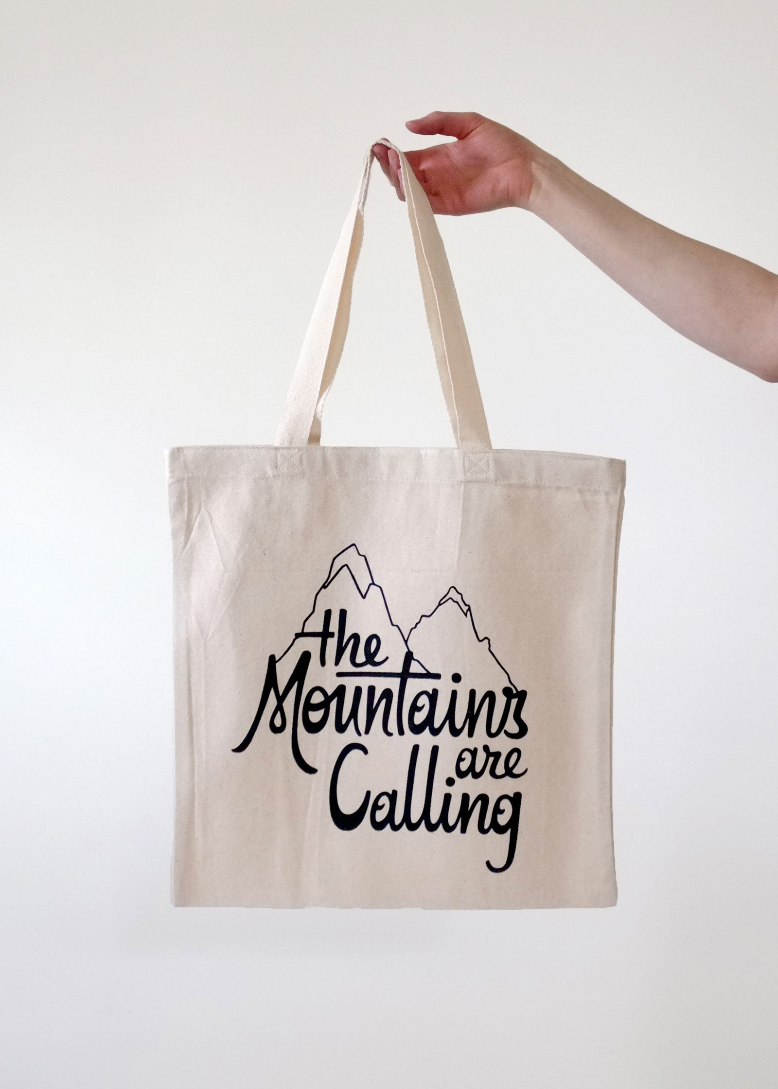 The Mountains are Calling Tote Bag by Teresa Grasseschi