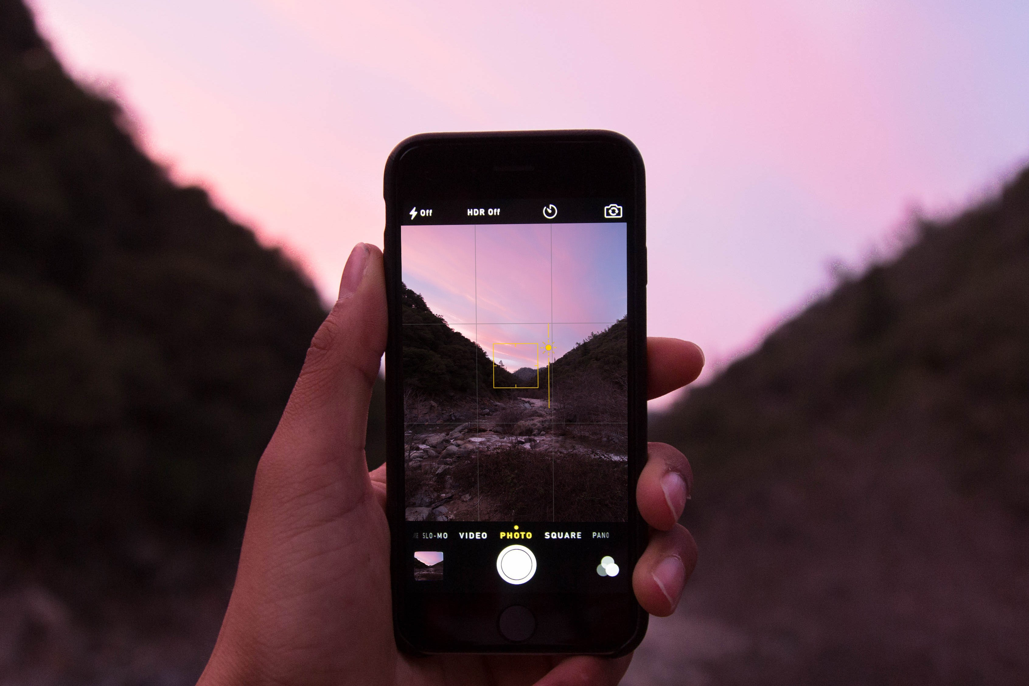 Take better hiking photos with your iPhone by adjusting the brightness