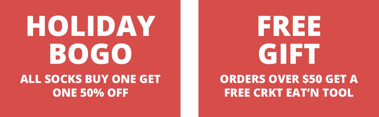 HOLIDAY BOGO 50% OFF + FREE GIFT WITH ORDERS OVER $50
