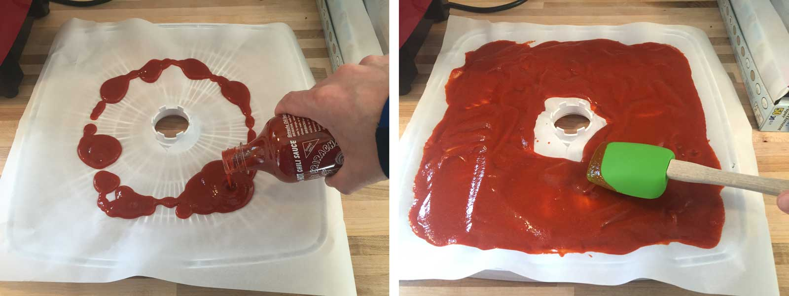 Dehydrating a bottle of Sriracha for backpacking