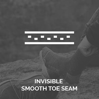 CloudLine socks feature an invisible smooth toe seam