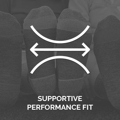 CloudLine socks feature arch support and a stay up fit