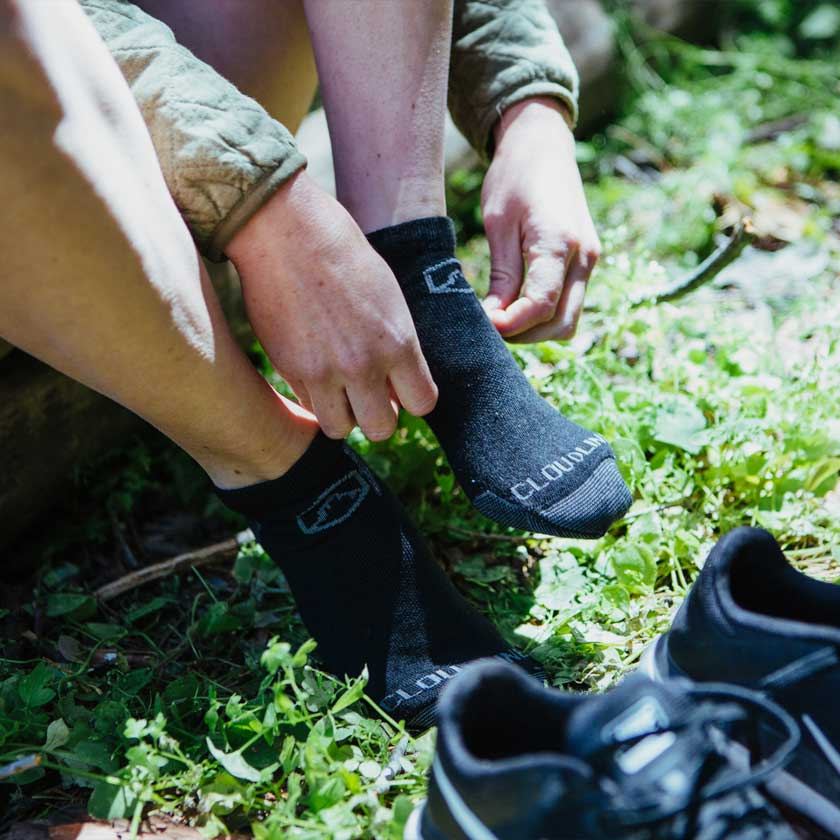 CloudLine Premium Merino Wool Hiking Socks Made in the USA
