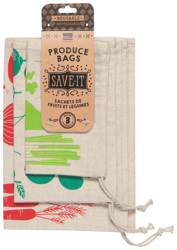 Produce Bags ~ Set of 3