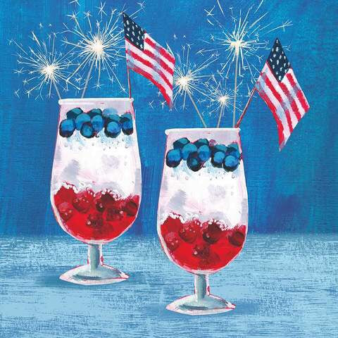 USA Patriotic Parfait Cocktail Napkins
