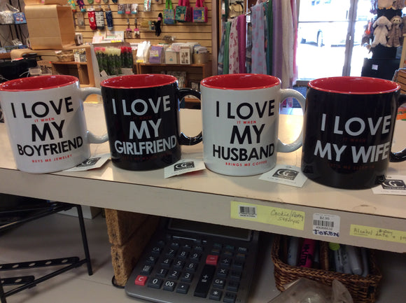 """I Love It When..."" Mugs"