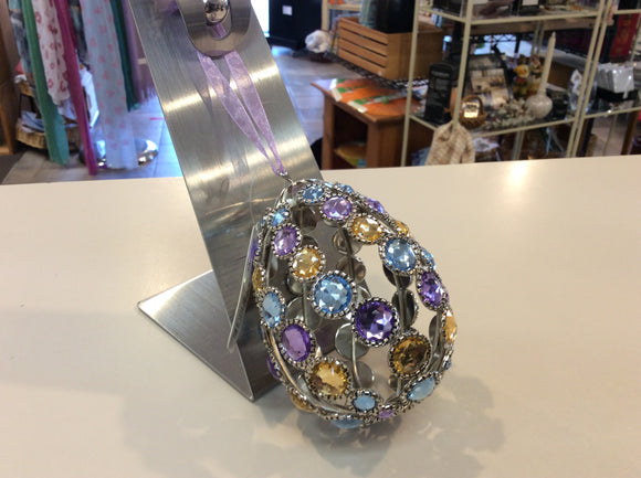 Crystal Expressions Large Egg Ornament