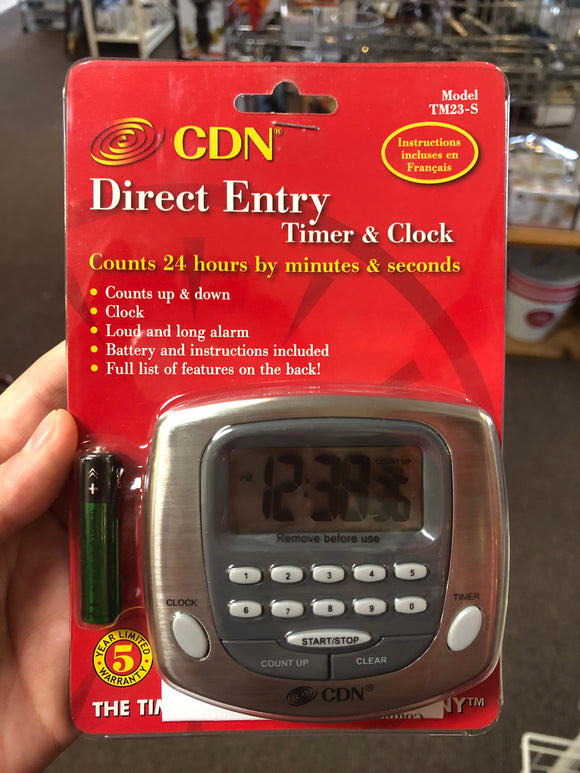 Direct Entry Timer & Clock