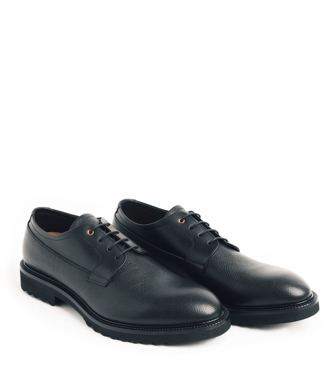 Derby MicroLight Pebble Grain Shoe - Black - Good Man Brand - Derby MicroLight Pebble Grain Shoe - Black - Footwear - Good Man Brand