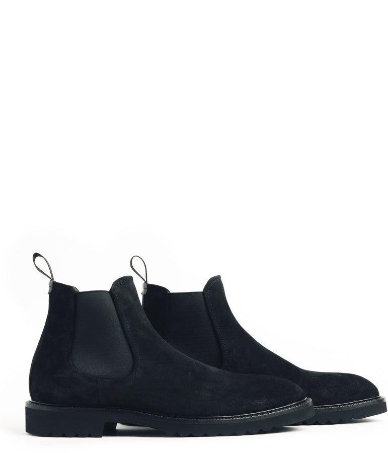Chelsea Nubuck Boot - Black - Good Man Brand