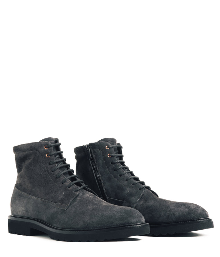 Derby MicroLight Suede Boot - Charcoal - Good Man Brand