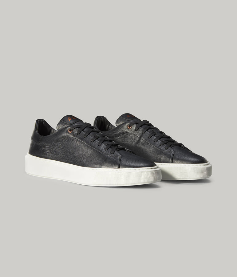 Legend London Sneaker in Pebble Leather - Black Pebble - Good Man Brand