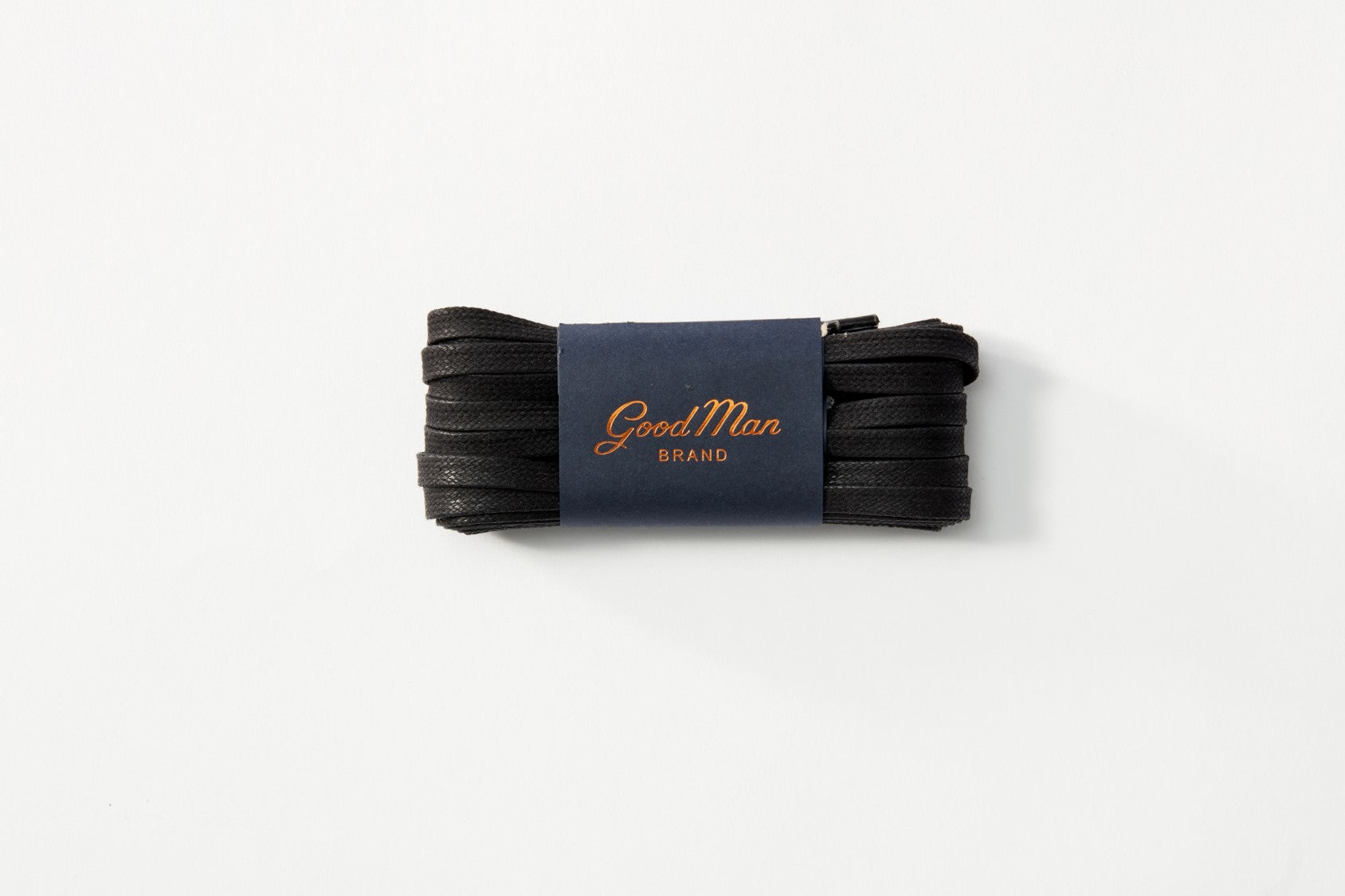 Waxed Cotton Laces 3 Pack - Black - Good Man Brand - Waxed Cotton Laces 3 Pack - Black
