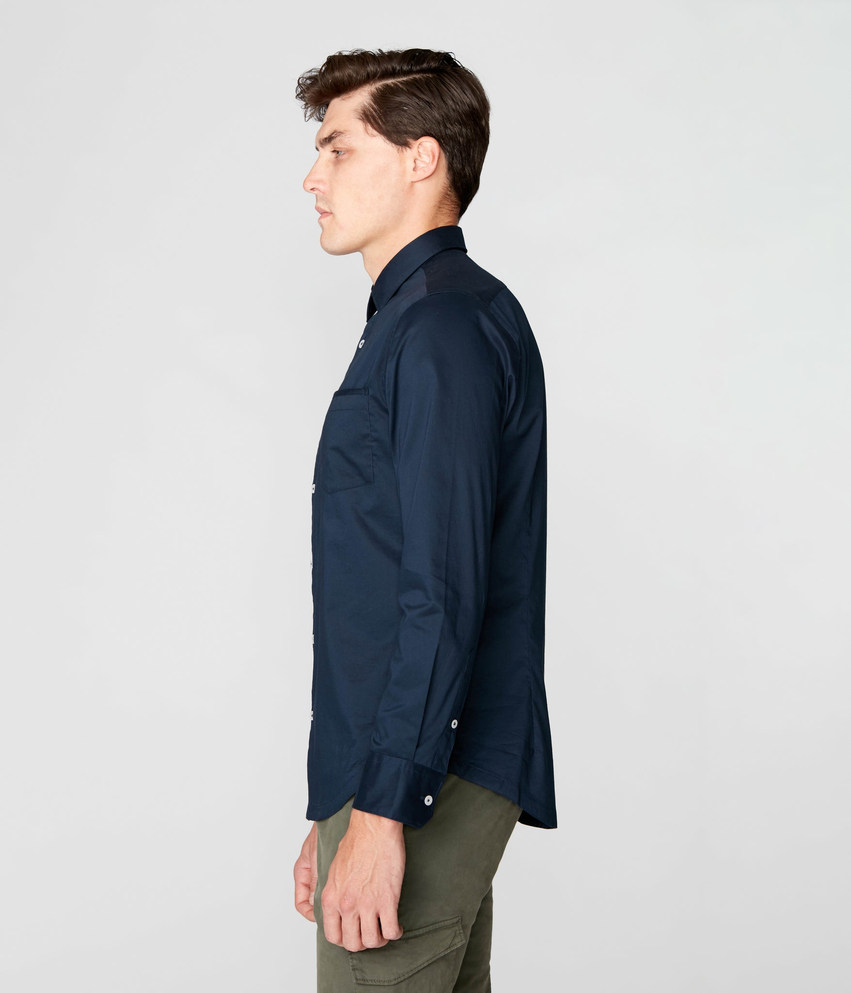 On-Point Solid Shirt - Navy