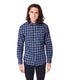On-Point Plaid Shirt - Navy Century Shadow