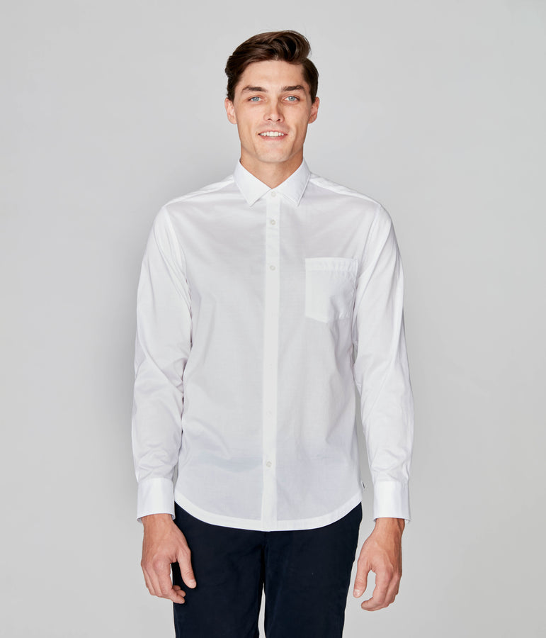 On-Point Solid Shirt - White - Good Man Brand