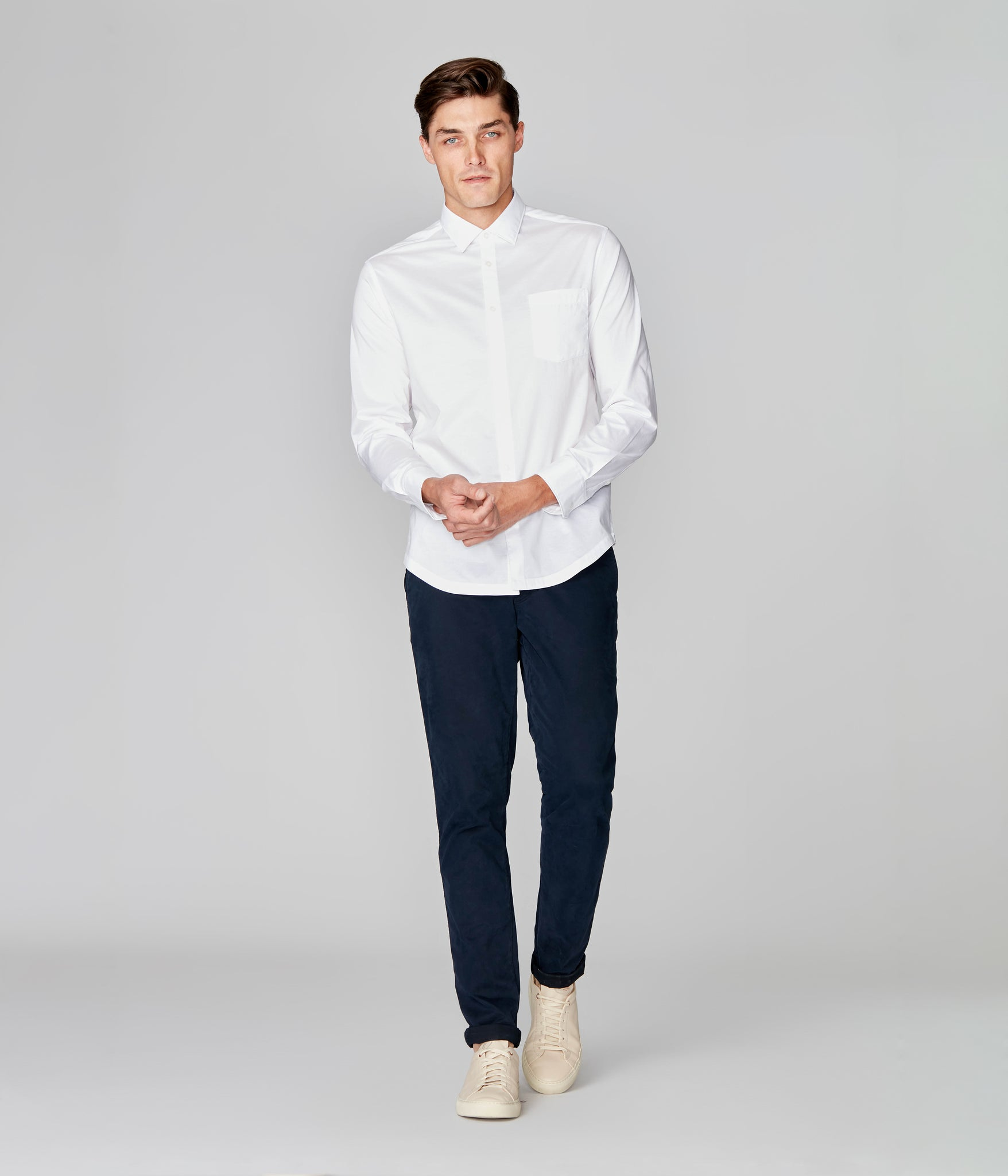 On-Point Solid Shirt - White