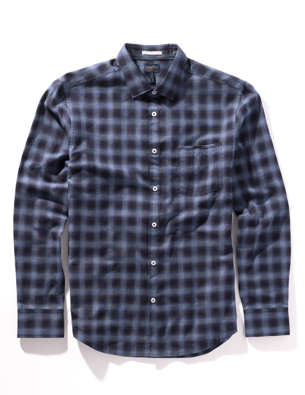 On-Point Plaid Shirt - Navy Century Shadow - Good Man Brand - On-Point Plaid Shirt - Navy Century Shadow