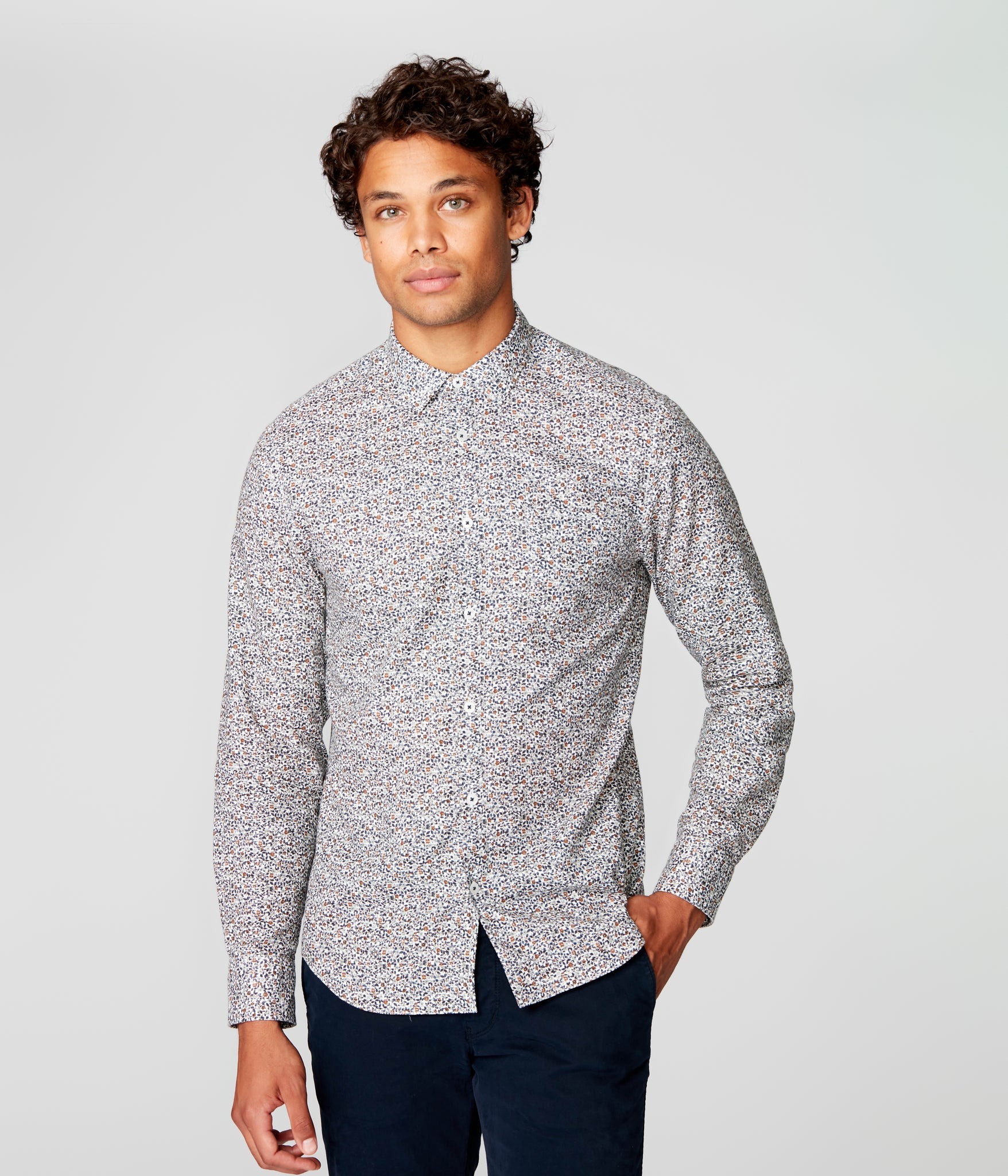 On-Point Print Shirt - Indigo Palais Royale