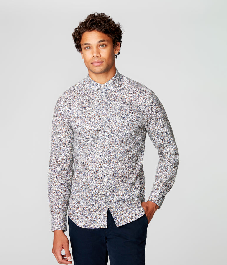 On-Point Print Shirt - Indigo Palais Royale - Good Man Brand